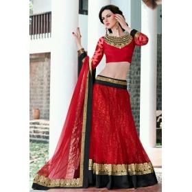 Sas Creations Best Net Red Lehenga