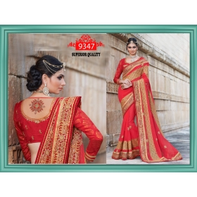 Sas Creations Best Georgette Red Saree