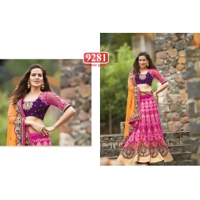 Sas Creations Ideal Best Net Pink Lehenga