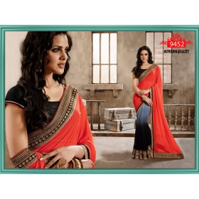 Sas Creations Best Georgette Pink Saree