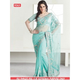 Sas Creations Superb Georgette Blue Saree