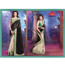 Sas Creations Immense Georgette Black Saree