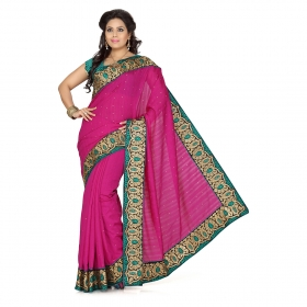 First Loot Rani Color Bhagalpuri Silk Saree