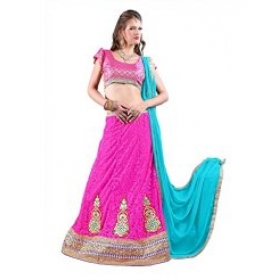 Firstloot Pink Designer Embroidery Lehenga