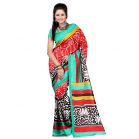 First Loot Printed Multicolor Art Silk Saree