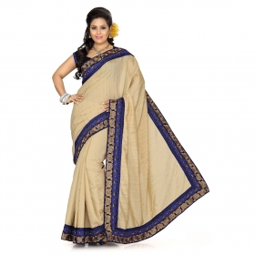 First Loot Beige Color Bhagalpuri Silk Saree