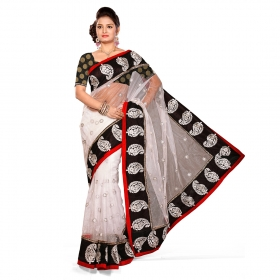 First Loot Off White Color Net Saree