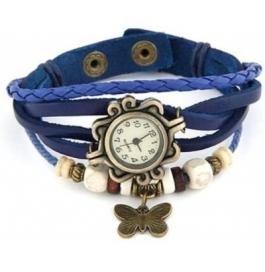 Festival Offer Blue Casual Analog Leather Women Wrist Watch