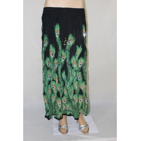 Sarva Designer Long Skirt Rayon Printed