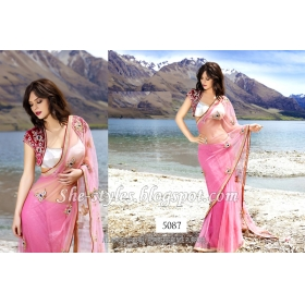Sas Creation Pink Designer Saree