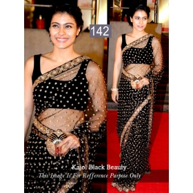 Sas Creation Black Designer Saree