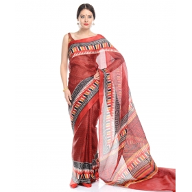Sas Creation Bhagalpuri Cotton Printed Saree