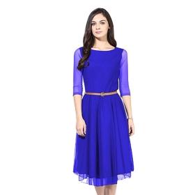 Designer Royal Blue Dress