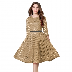 Exclusive Designer Golden Dress