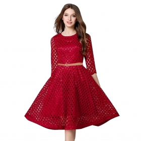 Exclusive Designer Maroon Dress
