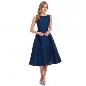 Designer Navy Blue Dress
