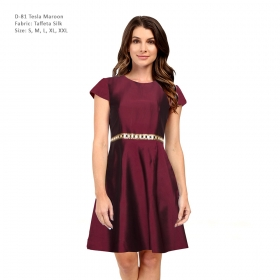 Designer Maroon Dress