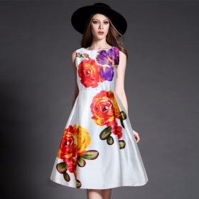 Exclusive Designer White Western Dress
