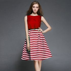 Exclusive Designer Red Western Dress