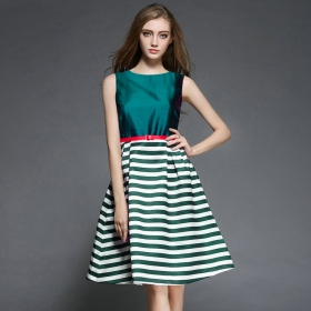 Exclusive Designer Green Western Dress