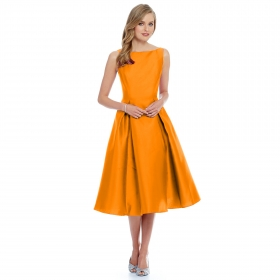 Designer Orange Dress