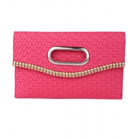 King Pink Fabric Clutch