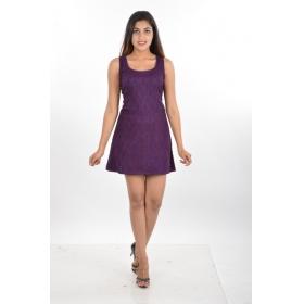 Women's Party Wear Net Short Dress