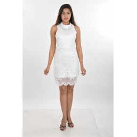 Women's Party Wear Net Short Dress