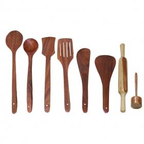Desi Karigar Wooden Cutlery Set Of 8