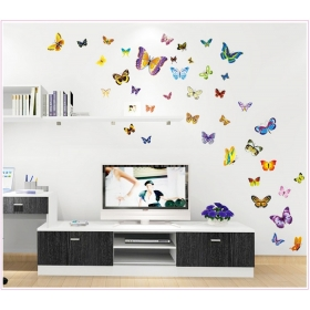 Ay1045 Multicolour  Butterfly  Wall Sticker  Jaamso Royals