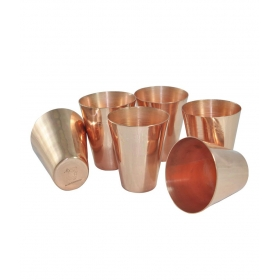 Copper Coated Shot Glasses Set Of 6
