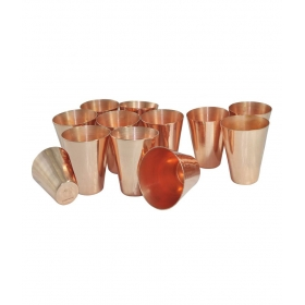 Copper Coated Shot Glasses Set Of 12