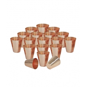 Copper Coated Shot Glasses Set Of 18