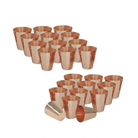 Copper Coated Shot Glasses - Set Of 24