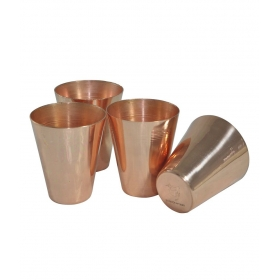 Copper Coated Shot Glasses - Set Of 4