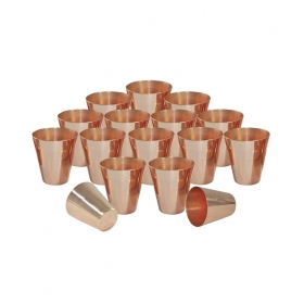 Copper Coated Shot Glasses Set Of 16