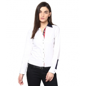 White Cotton Full Sleeves Shirts