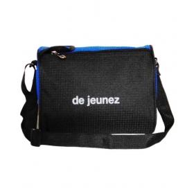 De Jeunez Polyester Black Lunch Bag
