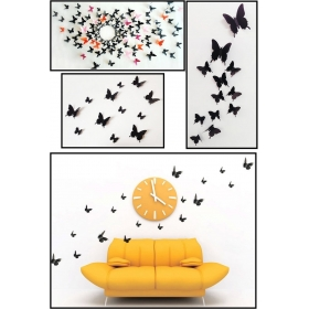 Hd-009 Black Butterfly  Wall Sticker  Jaamso Royals