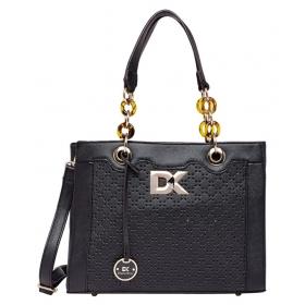 Black P.u. Shoulder Bag