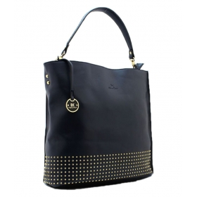Diana Korr Blue P.u. Shoulder Bag