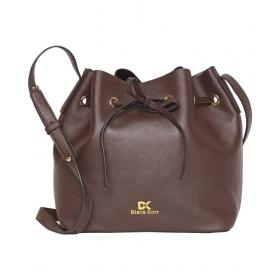 Brown P.u. Sling Bag