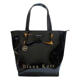 Black Faux Leather Shoulder Bag