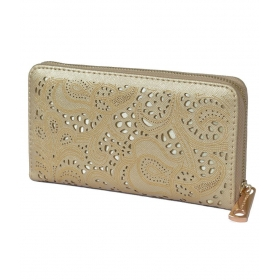 Non Leather Gold Womens Regular Wallet