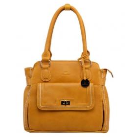 Yellow P.u. Shoulder Bag