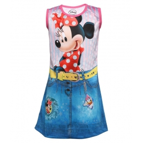 Girls Polyester Sleeveless Dress