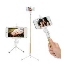 Dispho Selfie Stick Monopod With Tripod Stand For All Smartphones And Digital Cameras With Bluetooth & Zoom