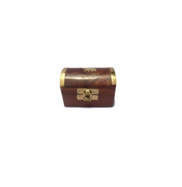 Desi Karigar Small Trinket Jewellery Box With Brass Work