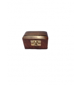Desi Karigar Small Trinket Jewellery Box With Black Stripes