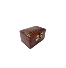 Desi Karigar Small Trinket Jewellery Box With Beautifull Black Stripes